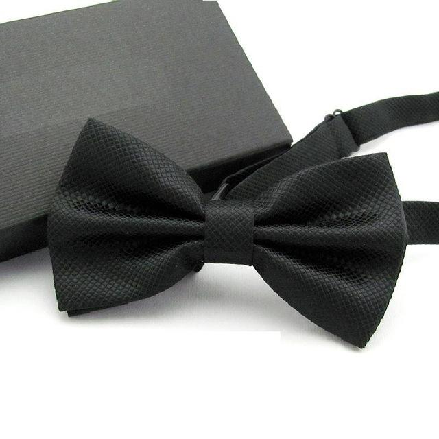 2018 Solid color bowtie men Bow Tie Fashion butterflies white black bluemodkily-modkily