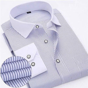 2018 Spring Classic Striped Men Business Shirt Slim Fit Formal Mens Dressmodkily-modkily