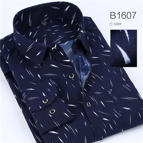 2018 Plaid and Line Print Man Casual Shirts Classic Men Dress Shirtmodkily-modkily
