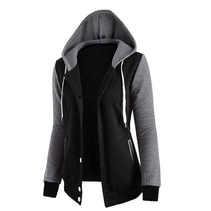 2018 New Fashion Women Sweatshirts Zipper Hooded Long Sleeve Ladiesmodkily-modkily