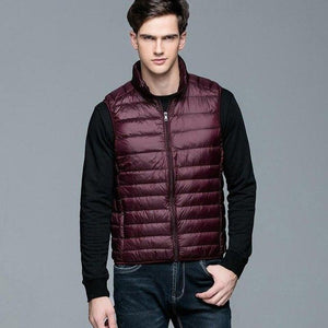 New Winter Men Down Vest Ultra Light 90% White Duck Downmodkily-modkily