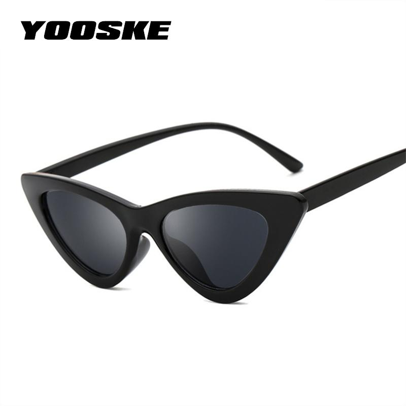 YOOSKE Triangle Small Size Frame Cat Eye Sunglasses Cool Women UV400 Newmodkily-modkily