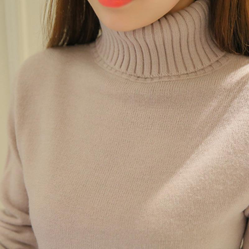 2018 New Winter Soft Sweater Women Warm Turtleneck Sweaters And Pulloversmodkily-modkily