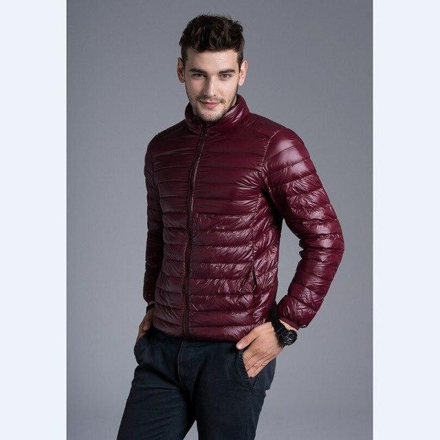 2018 Mens Down Jacket Fashion Spring Autumn Winter Stand Collar Casual Warmmodkily-modkily