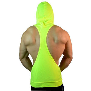 Mens Bodybuilding Stringer Hoodies Tank Tops Hoody Fitness Sweatshirts Pullover Polyestermodkily-modkily