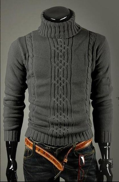 Male Sweater Pullover Men 2018 Male Brand Casual Slim Sweaters Men Solidmodkily-modkily
