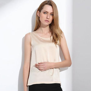 2018 Summer Silk Tops Bottoming Shirt Vest For Women Females Wide Strapsmodkily-modkily