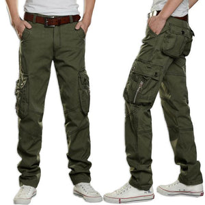 2018 Brand Mens Military Cargo Pants Multi-pockets Baggy Men Pants Casual Trousersmodkily-modkily