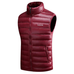 Men's Down Vests 4 Color Winter Jackets Waistcoat Men Fashion Sleeveless Solidmodkily-modkily