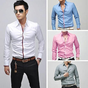 New Arrival Men's Fashion Korean Stylish Casual Slim Fit Long Sleeve Teemodkily-modkily