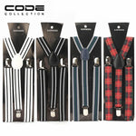 New Fashion Suspenders Men Three Clips-on Braces Vintage Mens Suspender For Trousersmodkily-modkily