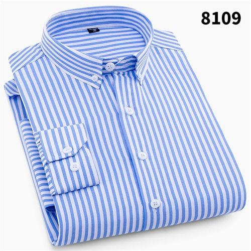 2018 Mens Business Casual Long Sleeved Shirt Men 4XL Plus Size Shirtmodkily-modkily