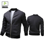 2017 Fashion Casual Male Jacket Europe and America Rib Sleeve Zipper Jaquetamodkily-modkily