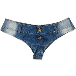 Women Beach Denim Thong Shorts Young Girls Sexy Nightclub Mini Short Jeansmodkily-modkily