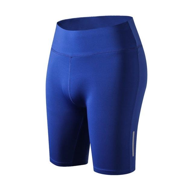 Women's Night Reflective Shorts Sportswear Breathing Short Fitness Shorts Solid Colormodkily-modkily