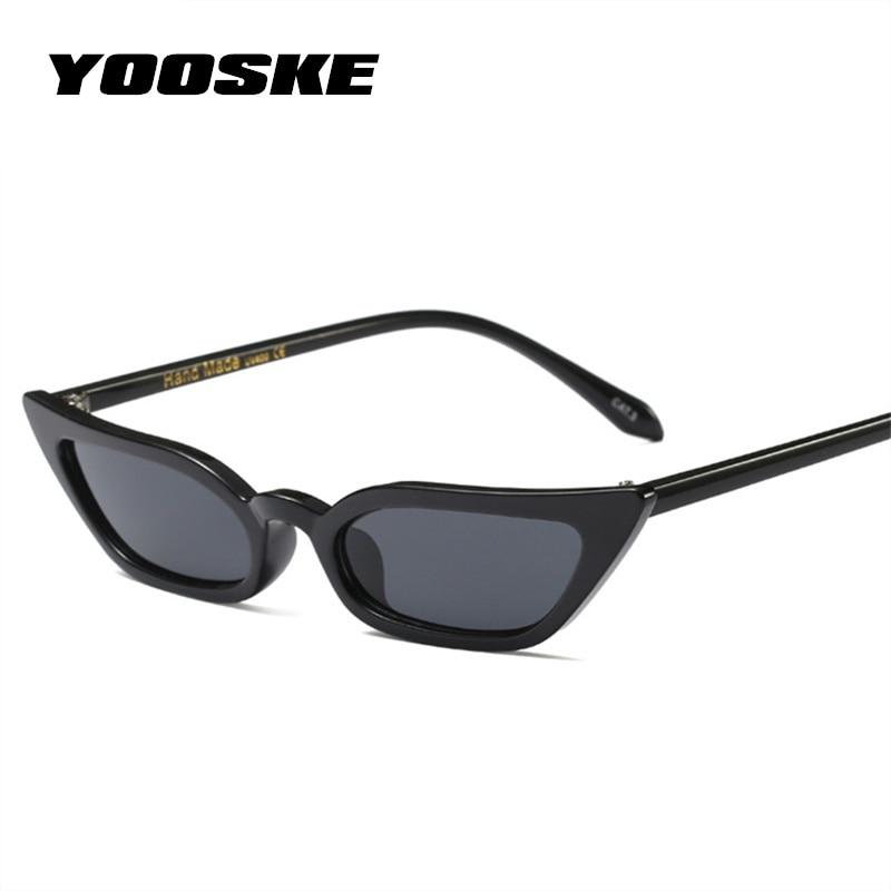 YOOSKE Sexy Small Cat Eye Sunglasses Women Vintage Red Black Sun Glassesmodkily-modkily