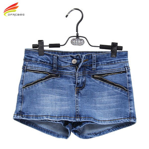 Denim Skort Shorts For Women 2018 Summer New Arrival Double Zipper Fashionmodkily-modkily