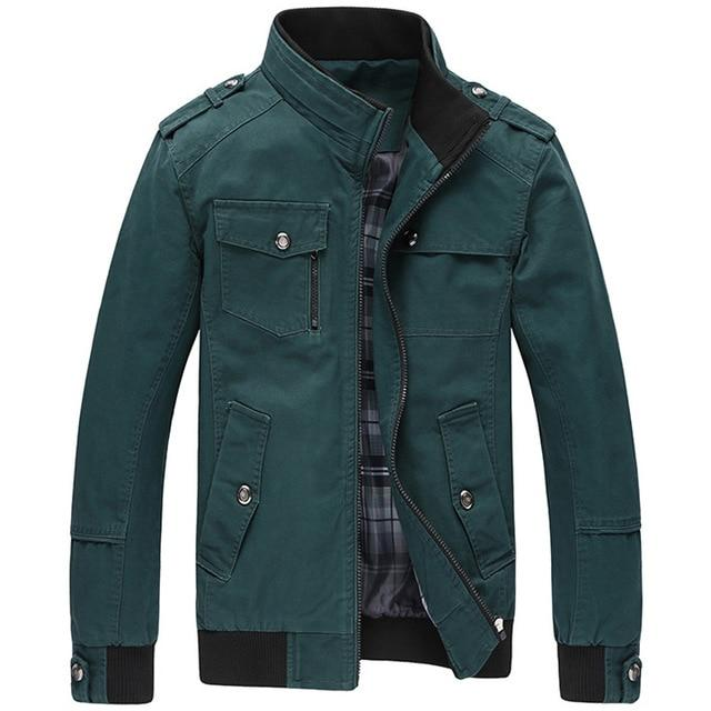 Jaqueta Masculina 2018 Men's New Casual Jacket Multi-pocket Mandarin Collar Menmodkily-modkily