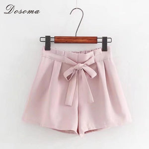 High waist shorts for women 2018 Summer bow lace up elasticmodkily-modkily