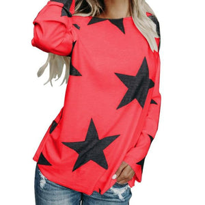 Winter Basic Tops Fashion Blusas Long Sleeve Casual Shirts O-neck Kawaii Printmodkily-modkily