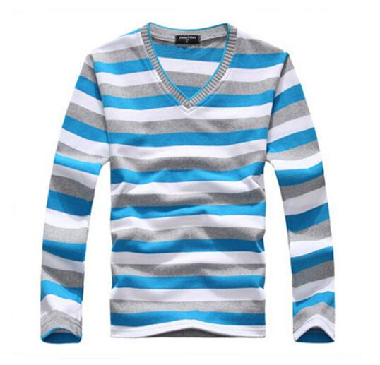 TFGS arrival 2016 men's long-sleeved cotton stripes sweater fashion and hotmodkily-modkily