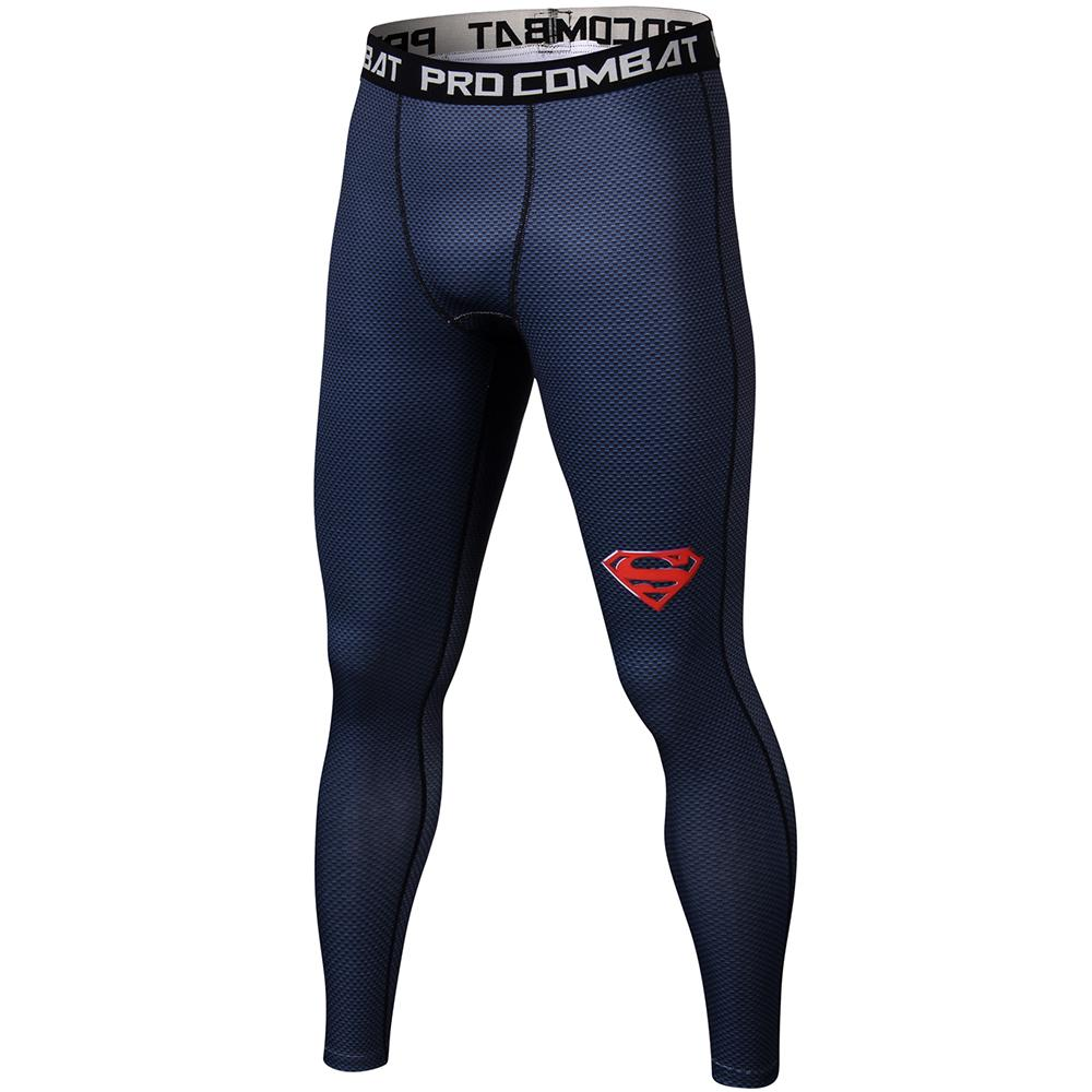 Superman 3D Printed Leggings Men Pattern Compression Tights Pants Bodybuilding Skinny Sweatpantsmodkily-modkily