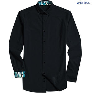 2018 Spring New Corduroy Men's Long Sleeved Business Casual Shirt Black Buttonmodkily-modkily