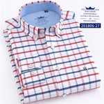2018 Plaid Shirt Men Flannel Striped 100% Cotton Spring Autumn Casual Longmodkily-modkily
