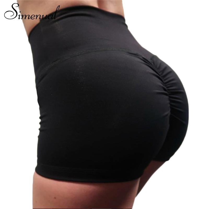 Push up summer shorts with high waist ruching bodybuilding sexy shortmodkily-modkily