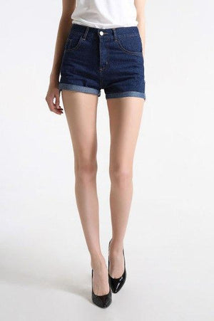 Mini shorts sexy ripped short jeans female 2018 summer dark blue holemodkily-modkily