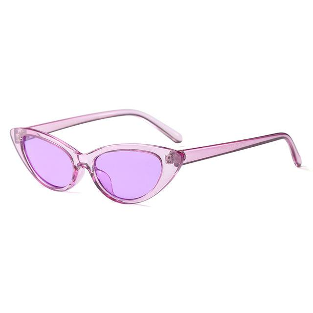 New Sexy Purple Small Cat Eye Sunglasses Women Vintage Black Sun Glassesmodkily-modkily