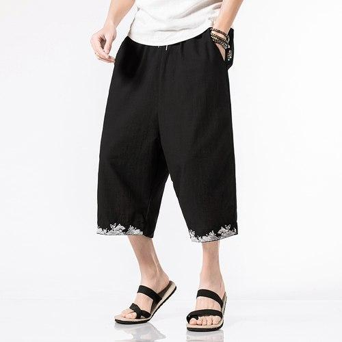 New 2018 Men Summer Pants Cotton Linen Loose Calf-length Pants Chinese Stylemodkily-modkily