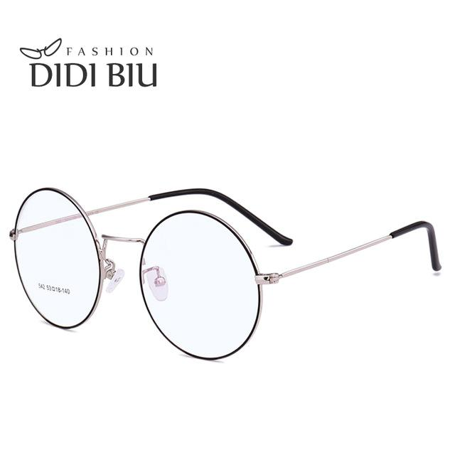 DIDI Vintage Lovers Korea Round Glasses Frame Woman Men Brand Eyeglass Framemodkily-modkily