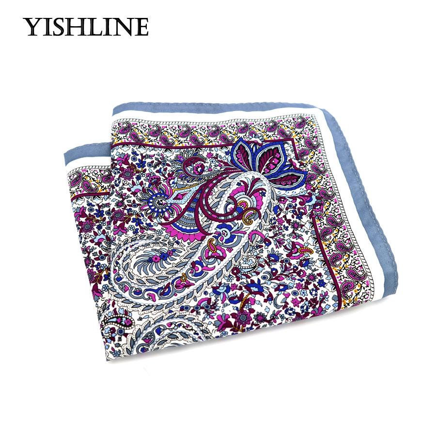 SF0218 New Popular 34x34CM Man Paisley Floral Pocket Square Hankies Casual Chestmodkily-modkily