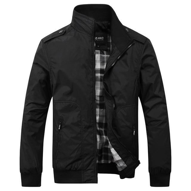 Men's Casual Jackets 4XL Fashion Male Solid Spring Autumn Coats Slimmodkily-modkily