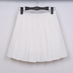 pleated casual skirt 2018 korean preppy style slim high waist white pleatedmodkily-modkily