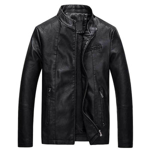 new spring 2018 men's leather PU leather jacket male fashion youth modkily-modkily