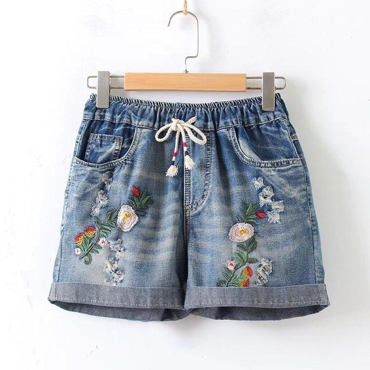 Summer Denim Shorts Female New Loose Hole High Waisted Shorts Summermodkily-modkily