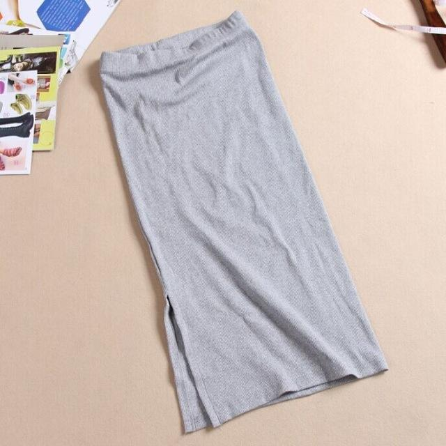 2016 Autumn Winter Women Skirt Wool Rib Knit Long Skirt Faldas Packagemodkily-modkily