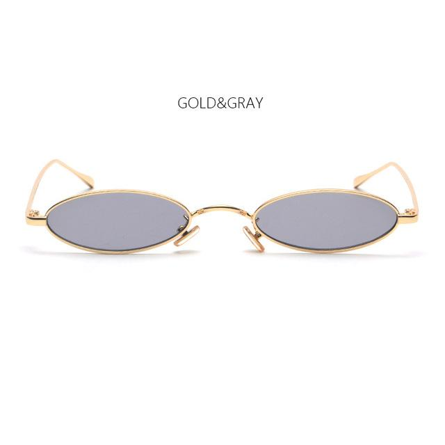 2018 New Small Oval Steampunk Sunglasses Fashion Women Men Vintage Brand Designermodkily-modkily