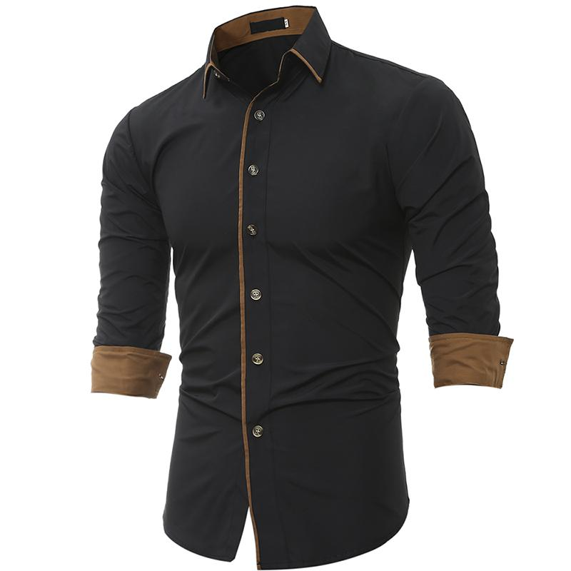 Men Shirt Brand 2018 Male High Quality Long Sleeve Shirt Caueal Solidmodkily-modkily