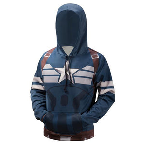 3D Superhero Hooded Pullover Captain American Hoodies Sweatshirt Novelty Men's Streetwear Plusmodkily-modkily