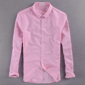 Italy brand men shirt linen long sleeve cotton shirt men casual solidmodkily-modkily