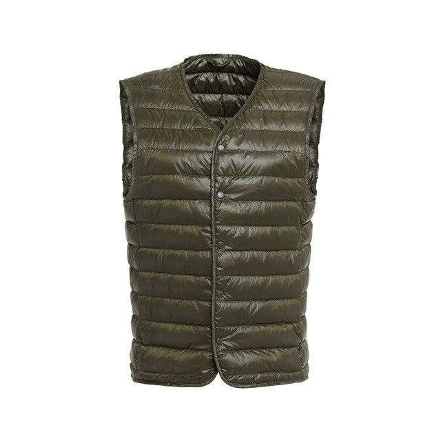 NewBang Mens Down Vest Ultra Light Down Vest Men Portable V-neck Sleevelessmodkily-modkily