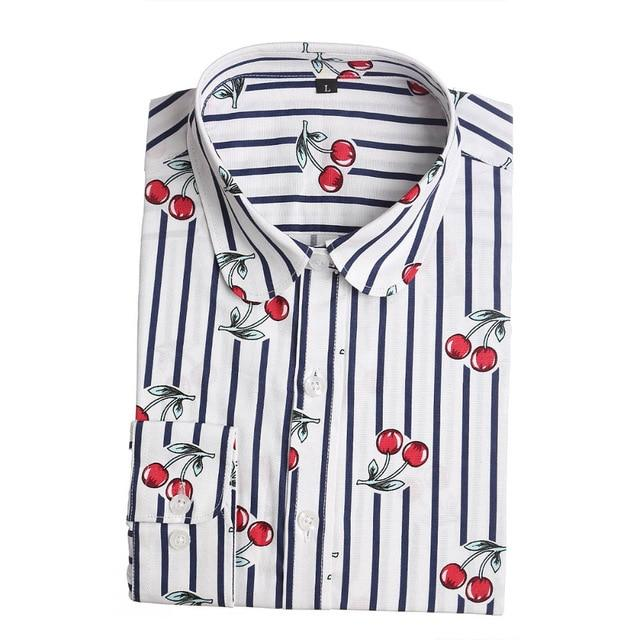 Fashion Casual Blouses Floral Long Sleeve Shirts Ladies Blouse Turn Downmodkily-modkily