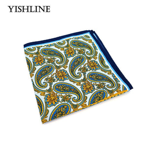 SF0216 New Popular 34x34CM Man Paisley Solid Floral Pocket Square Hankies Chestmodkily-modkily