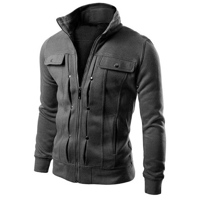 T-Bird Brand Hoodies Men 2018 Male Long Sleeve Hoodie More Buckle Decorationmodkily-modkily