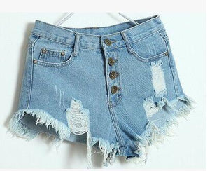 Free Shipping 2016 summer New Hole Punk Rock Casual Vintage Ripped Retromodkily-modkily