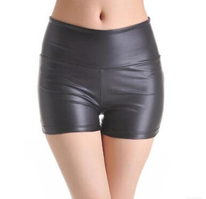 M- 5XL Shorts women 2018 summer high waist women shorts faux leathermodkily-modkily