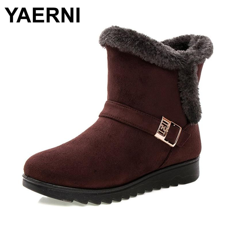 Women Boots 2018 Fashion Warm Snow Boots Ankle Winter Boots Formodkily-modkily